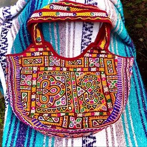 Boho > 🌺 Handmade India Mirrored Large Tote Bag